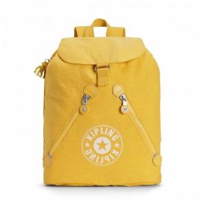 Kipling Sac à Dos avec 2 Poches Zippées Lively Yellow Pas Cher