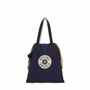 Kipling Petit sac fourre-tout pliable avec cordon de serrage Active Blue Bl [ Soldes ]