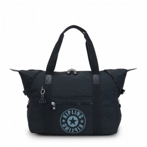 Kipling Sac Cabas Medium avec 2 Poches Frontales Lively Navy Pas Cher