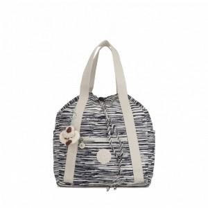 Kipling Petit sac à dos avec cordon de serrage Scribble Lines Pas Cher