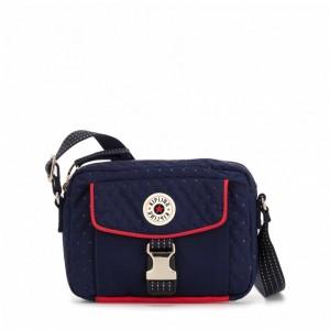 Kipling Petit sac à bandoulière avec bretelle réglable Strong Blue Emb Pas Cher