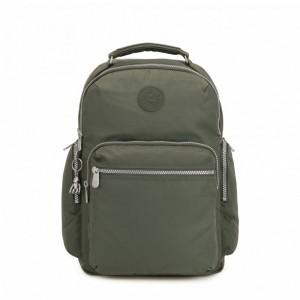 Kipling Grand sac à dos avec poches d'organisation Rich Green Pas Cher