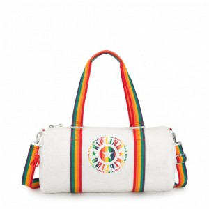 Kipling Sac Polochon Polyvalent Rainbow White [ Promotion Black Friday 2020 Soldes ]