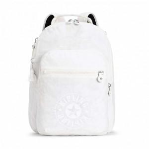 Kipling Sac à Dos Medium avec Compartiment pour Ordinateur Lively White [ Promotion Black Friday 2020 Soldes ]