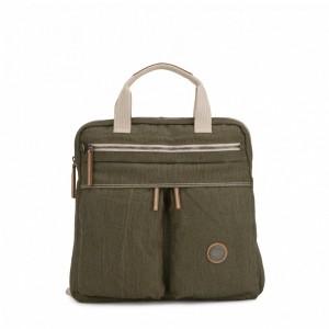 Kipling Petit sac à dos et à main 2 en 1 Urban Khaki [ Soldes ]