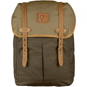FJALLRAVEN No.21 - Sac à dos - Medium marron/olive Marron [ Promotion Black Friday 2020 Soldes ]