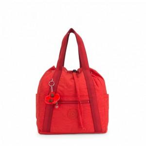 Kipling Petit sac à dos avec cordon de serrage Active Red [ Soldes ]