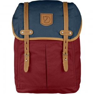 FJALLRAVEN No. 21 - Sac à dos - Medium rouge/bleu Rouge Pas Cher