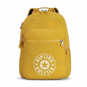 Kipling Sac à Dos Medium avec Compartiment pour Ordinateur Lively Yellow