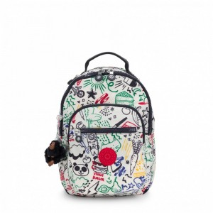 Kipling Petit Sac à Dos Doodle Play Bl [ Promotion Black Friday 2020 Soldes ]