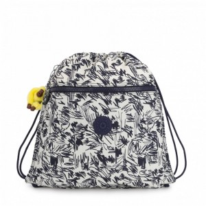 Kipling Grand Sac à Cordon Scribble Fun Bl