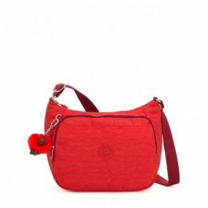 Kipling Sac à Main Imprimé avec Sangle Extensible Active Red [ Soldes ]