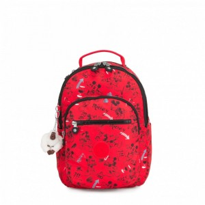 Kipling Petit sac à dos avec protection pour tablette Sketch Red [ Promotion Black Friday 2020 Soldes ]