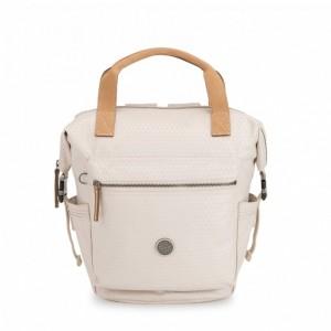 Kipling Petit sac à dos avec bretelles semi-amovibles Triangle White [ Promotion Black Friday 2020 Soldes ]