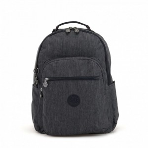 Kipling Large baby backpack (with changing mat) Active Denim Pas Cher