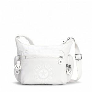 Kipling Sac Bandoulière avec Compartiment pour Téléphone Lively White [ Soldes ]