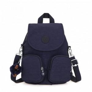 Kipling Petit sac à dos transformable en sac à bandoulière Active Blue [ Soldes ]
