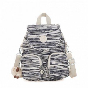 Kipling Petit sac à dos transformable en sac à bandoulière Scribble Lines Pas Cher