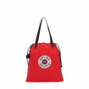 Kipling Petit sac fourre-tout pliable avec cordon de serrage Active Red Bl Pas Cher
