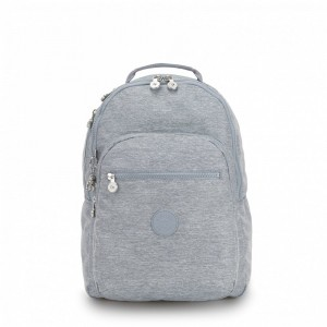 Kipling Large backpack (with laptop protection) Cool Denim [ Soldes ]
