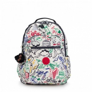 Kipling Grand Sac à Dos avec Protection pour Ordinateur Portable Doodle Play Bl [ Promotion Black Friday 2020 Soldes ]