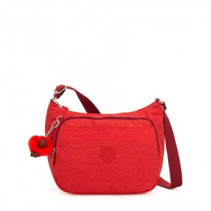 Kipling Sac à Main Imprimé avec Sangle Extensible Active Red [ Soldes ]