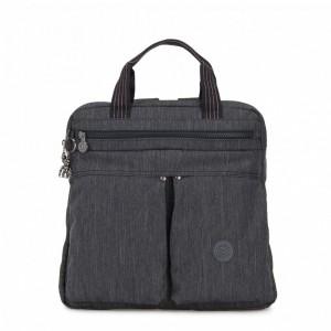 Kipling Petit sac à dos et à main 2 en 1 Active Denim Pas Cher