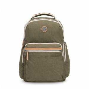 Kipling Grand sac à dos avec poches d'organisation Urban Khaki Pas Cher