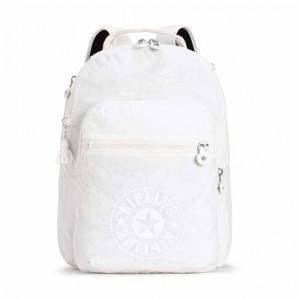 [ Black Friday 2019 ] Kipling Sac à Dos Medium avec Compartiment pour Ordinateur Lively White