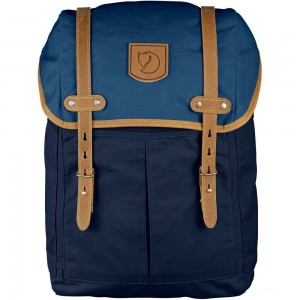 FJALLRAVEN No. 21 - Sac à dos - Medium bleu Bleu [ Promotion Black Friday 2020 Soldes ]