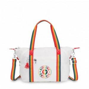 Kipling Sac Cabas avec Sangle Détachable Rainbow White [ Soldes ]