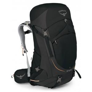 Osprey Sac à dos de trekking femme - Sirrus 50 Black - Marque Pas Cher